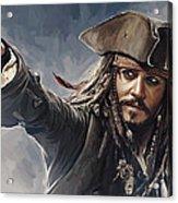 Pirates Of The Caribbean Johnny Depp Artwork 2 Acrylic Print