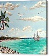 Pirates On Pavilion Key Acrylic Print