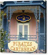 Pirates Signage New Orleans Disneyland Acrylic Print