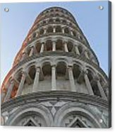 Pisa Leaning Tower At Sunset Tuscany Acrylic Print