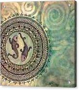 Pisces Mandala Acrylic Print
