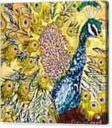Pistacio Peacock Acrylic Print
