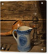 Pitcher Cup And Lamp Acrylic Print by Douglas Barnett
