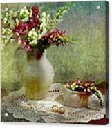 Pitcher Of Snapdragons Acrylic Print by Diana Angstadt