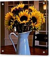Pitcher Of Sunflowers Acrylic Print