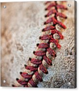 Pitchers Stitches Acrylic Print