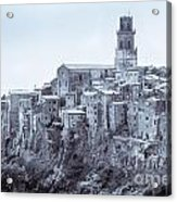 Pitigliano  Stands On An Abrupt Tuff Butte High Above The Olpeta Acrylic Print
