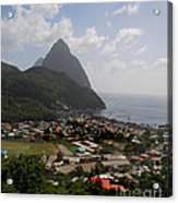 Pitons St. Lucia Acrylic Print