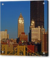 Pittsburg At Dusk Acrylic Print