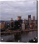 Pittsburgh Aerial Skyline At Dusk Acrylic Print
