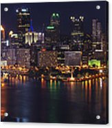 Pittsburgh After The Setting Sun Acrylic Print