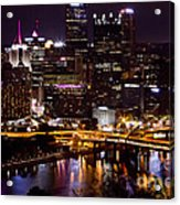 Pittsburgh At Night Acrylic Print
