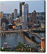 Pittsburgh Before Sunset Acrylic Print