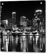 Pittsburgh Black And White Panorama Acrylic Print