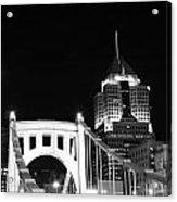 Pittsburgh Bridge Acrylic Print by Josh Ebel