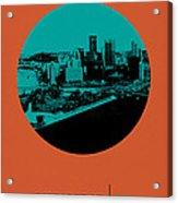 Pittsburgh Circle Poster 1 Acrylic Print
