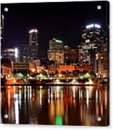 Pittsburgh Panorama Acrylic Print by Frozen in Time Fine Art Photography