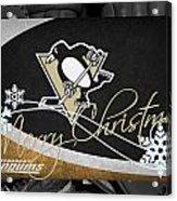 Pittsburgh Penguins Christmas Acrylic Print