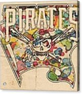 Pittsburgh Pirates Poster Art Acrylic Print