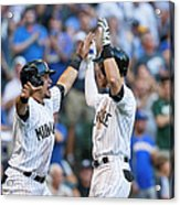 Pittsburgh Pirates V Milwaukee Brewers Acrylic Print