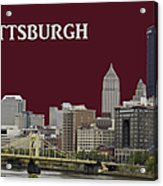 Pittsburgh Poster Acrylic Print