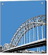 Pittsburgh Skyline 16th St. Bridge - Slate Acrylic Print