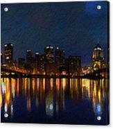 Pittsburgh Skyline 2 Acrylic Print by  Fli Art