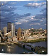 Pittsburgh Skyline At Dusk Acrylic Print