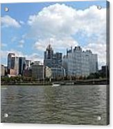 Pittsburgh Skyline From The Waterfront Acrylic Print