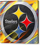 Pittsburgh Steelers Football Acrylic Print