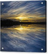 Pittwater Sunset Abstract Acrylic Print