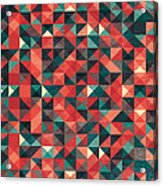 Pixel Art Poster Acrylic Print