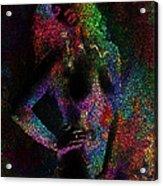 Pixel Girl Acrylic Print