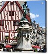 Place Francois Rude - Dijon Acrylic Print