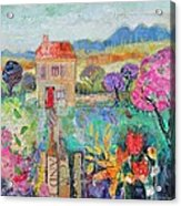 Place In The Country, 2014, Acrylicpaper Collage Acrylic Print