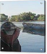 Placid Fishing Boats Acrylic Print