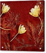Plain Flowers Pop Art Acrylic Print