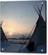 Plains Cree Tipi Acrylic Print
