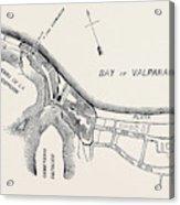 Plan Of Part Of The City Of Valparaiso Acrylic Print