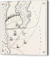 Plan Of The Defeat Of The American Fleet, Under Benedict Acrylic Print