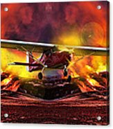 Plane And Fire Acrylic Print