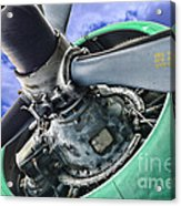 Plane Green Prop Acrylic Print