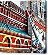 Plane In The City Acrylic Print