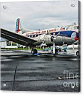 Plane On The Tarmac Acrylic Print