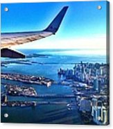 Plane Over Miami Acrylic Print