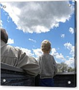 Plane Viewing From The Truck Bed Acrylic Print by Sheri Lauren Schmidt