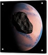 Planet And Asteroid In Space Acrylic Print