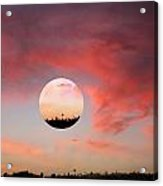 Planet And Sunset Acrylic Print