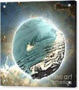 Planet Blue Acrylic Print by Bernard MICHEL