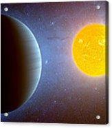 Planet Kepler10 Stellar Family Portrait Acrylic Print